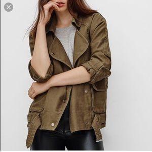 Aritzia Wilfred • Grey Free Rayder Military Jacket